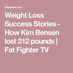 Weight Loss Success Stories - How Kim Bensen lost 212 pounds   Fat Fighter TV