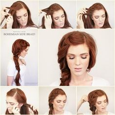 DIY Bohemian Side Braid Hairstyle