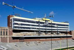Memorial Stadium Curtain Wall Scaffolding Support System | Champaign, IL