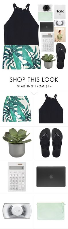 """❀running down to the riptide"" by b-luebonnets ❤ liked on Polyvore featuring Boohoo, A.L.C., Crate and Barrel, Havaianas, Muji, Incase, MAC Cosmetics, Nikon and bluesimple"