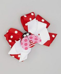 Another great find on #zulily! Red & White Polka Dot Ladybug Hair Bow by Heavenly Things for Angels on Earth #zulilyfinds