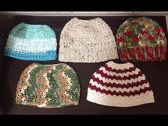 Messy bun hat.Ponytail hat crochet (bottom to top) - Tamil