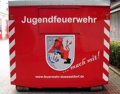 Für die Jugendfeuerwehr Düsseldorf wurde ein neuer Materialcontainer beschafft.