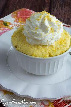 Sugar-Free Lemon Mug Cake Low in carb, no sugar added, and less than 200 calories!