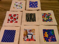 Fabric Tile Classic Concentration, Memory Matching, Pairs, Travel Game, Montessori or Alzheimers Activity + Drawstring Bag, SPECIAL ORDER by DebsBusyNeedle on Etsy https://www.etsy.com/listing/484223530/fabric-tile-classic-concentration-memory