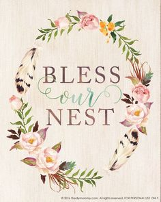 Bless Our Nest – Free Printable Watercolor Artwork for Spring   The DIY Mommy