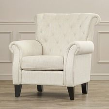 Tufted Upholstered Arm Chair