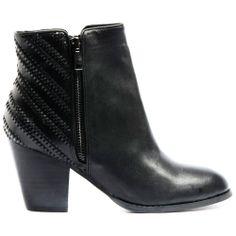 ROBOTY | Cinori Shoes #ankleboots #booties #lace #blockheel #winter #aw14 #djangojuliette #cinori #black #leather