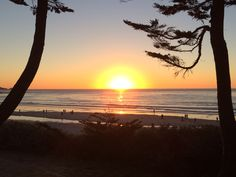 Sunset in Carmel, California.
