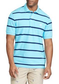 70d995e69e Chaps Blue Big Tall Striped Mesh Polo Shirt