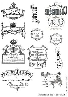 Discover recipes, home ideas, style inspiration and other ideas to try. Vintage Diy, Vintage Labels, Vintage Images, French Chic, French Decor, Printable Labels, Free Printables, Decoupage Printables, Collages D'images