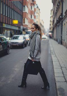 Kenza Zouiten - Winter look #GREY