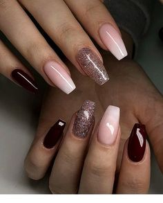 50 Fabulous Coffin Nail Designs For Women - Page 32 of 50 - Best Pins Live Cute Acrylic Nails, Acrylic Nail Designs, Cute Nails, Gel Designs, Shellac Nails, Nail Manicure, Nail Polish, Hair And Nails, My Nails