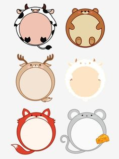 Hand Drawn Cartoon Border Cute Animal Set Illustration With Commercial Elements Journal Scrapbook PNG and PSD Drawing Clipart, Frame Clipart, Cute Borders, Colourful Balloons, Cute Little Animals, Prints For Sale, Background Patterns, Easy Drawings, Cute Cartoon