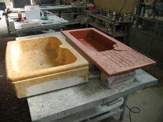 lavelli da massello in marmo rosso verona e giallo reale