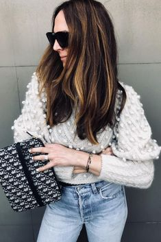 Sweater weather look by Bishop Sleeve, Lunch Time, Cold Day, Sweater Weather, Fall Outfits, Ruffle Blouse, Clothes For Women, Lace, Sleeves