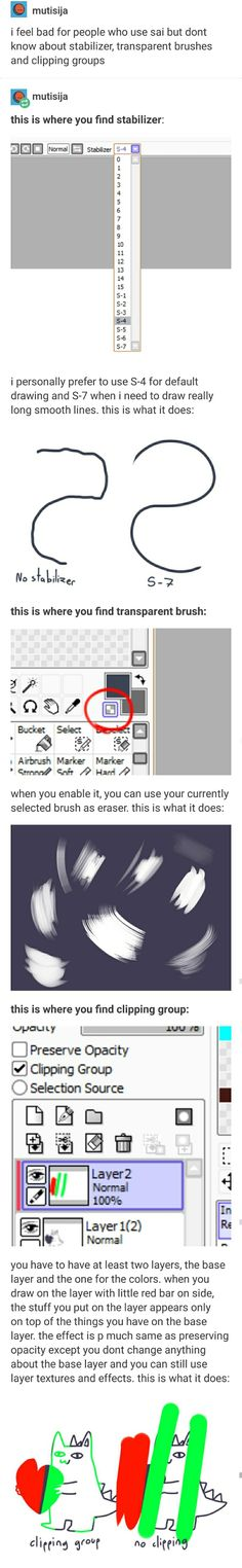 I don't use sai, but I want to try it to see if it's better than what I use now and this might be helpful