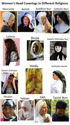 Hijab is more than a Muslim tradition. It is a modest tradition. Women's head coverings from a variety of traditions