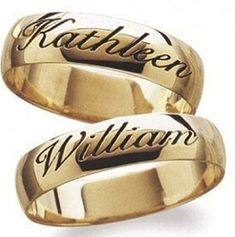 New Model Gold Wedding Band 10 - On sale near me ideas gold name ring designs,gold ring with name in Wedding Ring With Name, Wedding Rings Simple, Gold Wedding, Wedding Bands, Trendy Wedding, Wedding Gifts, Engagement Ring For Him, Gold Engagement Rings, Gold Ring Designs