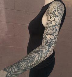 mandala + floral sleeve