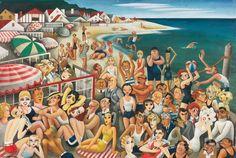 Hollywood's Malibu Beach, Covarrubias, 1933.