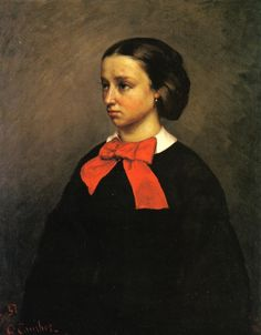 The Athenaeum - Portrait of Mademoiselle Jacquet (Gustave Courbet - ) 1857 Oil on canvas / 80.96 x 65.9 / Private collection