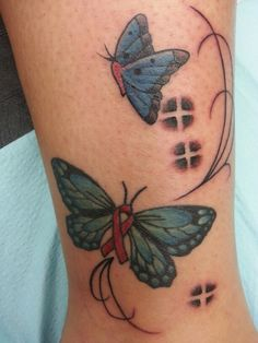 Pink Ribbon Butterfly Tattoo for my Mom♡