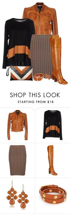"""Black & Orange"" by jennsprettylittlefriend ❤ liked on Polyvore featuring Gucci, Momonì, Opening Ceremony, INC International Concepts, 1st & Gorgeous by Carolee and Tory Burch"