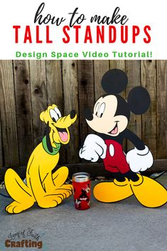 life size mickey mouse diy pin