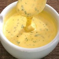 Béarnaise Sauce... I made this the other night and it was the PERFECT complement to a grilled Filet and absolutely divine~ very similar in taste to one I had at Fleming's Steak House recently.