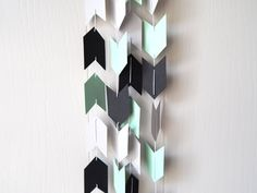 Arrow Garland in Mint Black and Gray by ElisabethNicole on Etsy