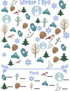 Winter I Spy Game - free printable seek and find game!