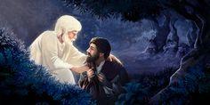 La noche antes de morir, Jesús recibe ánimo de un ángel