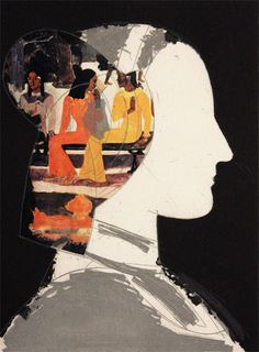 Chiara I with Gauguin collage par Manolo Valdés, 2003 Gauguin, Art Corner, Art Sculpture, Art Et Illustration, Historical Art, Portrait Art, Face Art, Figurative Art, Collage Art
