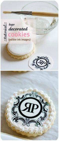 DIY ● Tutorial ● Logo Cookies. It's my kiddo's initials! :)))