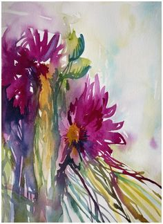 Learn to paint flowers like this! Online course by Angela Fehr