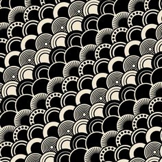art deco pattern circles