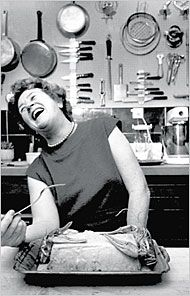 Julia Child. December 1968. Plascassier, France.  We should all live life this fully.  I'm happier just looking at how joyful she is.