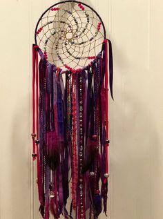 Purple Passion grandes Boho Dreamcatcher tenture