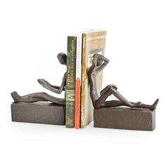 Man & Woman Reading Metal Bookend Set   Overstock™ Shopping - Great Deals on Danya B Accent Pieces
