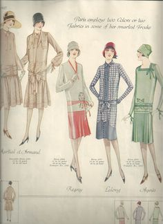 "Page 9. ""Paris employs two Colors or two Fabrics in some of her smartest Frocks"""