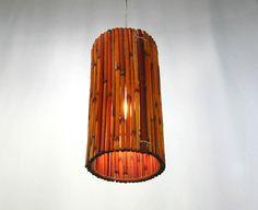 Pendant Bamboo Shade Light One of A Kind Judi's by JudisLamps