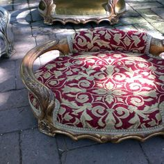 Pompadour luxury pet bed - Louis XV style tapestry