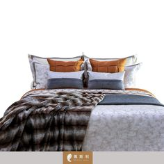Palsley home 床品布艺联系QQ:2499812747 Bed Ensemble, Hotel Room Design, Penthouses, Bedspreads, Sweet Home, Cushions, Room Decor, Curtains, Interior Design