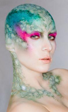Make-Up Artist: Lisa Berczel Alien Makeup, Sfx Makeup, Costume Makeup, Fish Makeup, Hd Make Up, Make Up Art, Maquillage Halloween, Halloween Makeup, Halloween Ideas