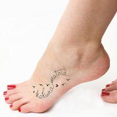 Infinity Hakuna Matata Temporary Tattoo Set of 2 by Tattify