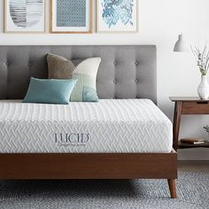 Sleep comfortably with the LUCID® Comfort Collection plush 10 in. This mattress consists of a 7 in. layer of high-density support foam and is topped with a 3 in. Premium CertiPUR-US certified foam. Full Mattress, Mattress Sets, Comfort Mattress, Queen Memory Foam Mattress, Queen Mattress, California King Mattress, King Bedroom Sets, Master Bedroom, Bed Sizes