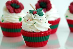 Christmas Soy Cupcake Candles Scented by BrooklynWicksLLC on Etsy