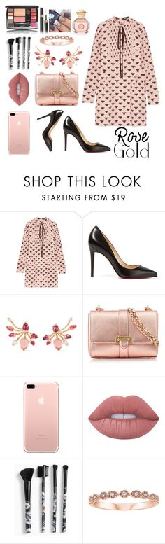 """""""Rose💖💗"""" by fllodeea ❤ liked on Polyvore featuring Markus Lupfer, Christian Louboutin, Fernando Jorge, Aspinal of London, Lime Crime, Torrid and Tory Burch"""