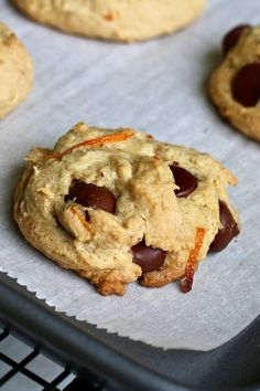 """Orange-Dark Chocolate Cookies 